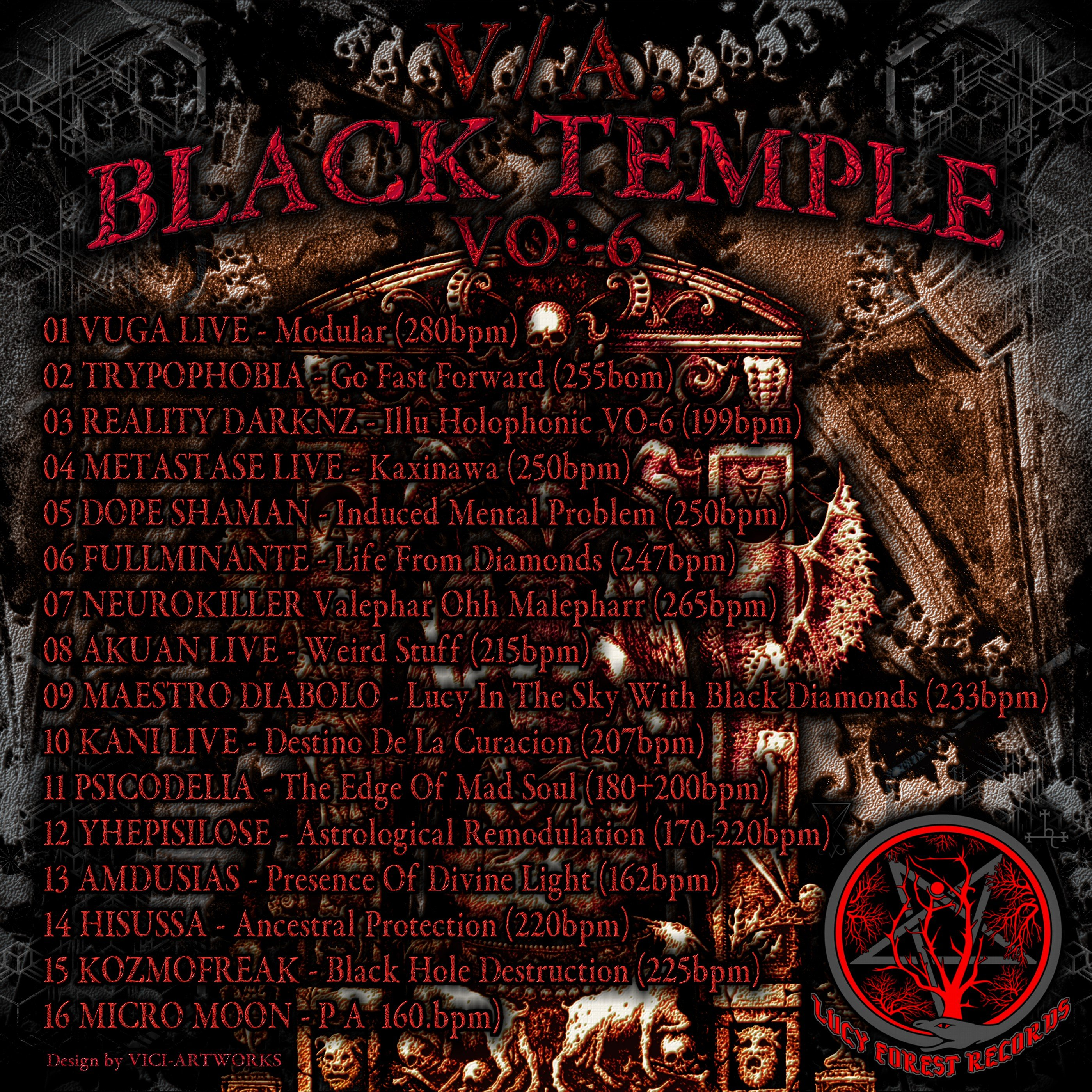 black temple back new